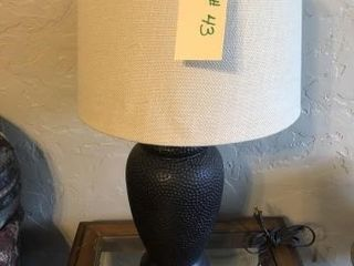 Table top lamp with shade