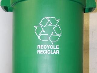 1ea  Recycling Receptacle Container  Plastic