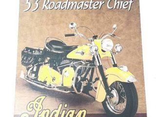 Metal Indian Motorcycles Sign    53 RoadmasterChief