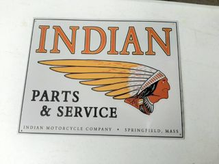 Indian Parts and Service Metal Sign