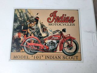 Indian Motorcycle Tin Sign Model 101 Scout