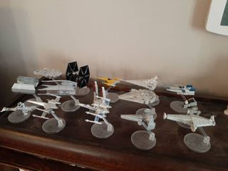 15 Star Wars Vehicles on Stands