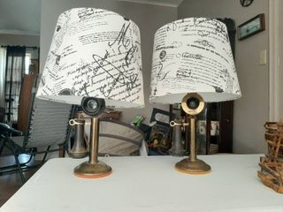 Pair of Old Phone lamps