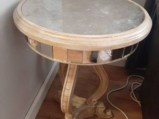 Mirrored Occasional Table   Missing some on Edge