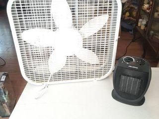 lasko Box Fan and Pelonis Heater