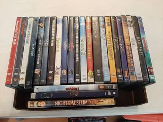 Approximately 25 DVDs
