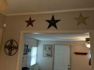 6 Pieces Metal Star Decor