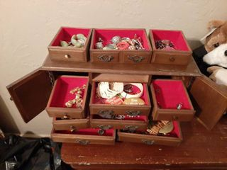 Jewelry Cabinet and Contents