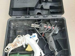 Solder Gun  Hot Glue Gun and Engraver in Dewalt Case