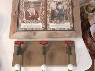 Duck Dynasty Picture in Barnwood Frame and Faucet Coat Rack