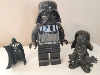 Darth Vader Clock and Bobble Head