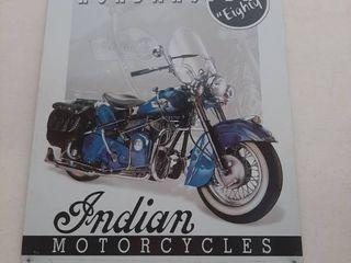 Indian Motorcycle Tin Sign   Roadmaster 80