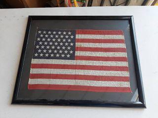 Framed 49 Star Flag Decor