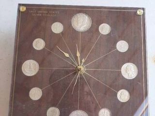 Clock with 1964 Coins