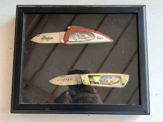 Frame with 2 Knives   Indian and Mustang