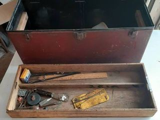 Metal Box with Wood Tray