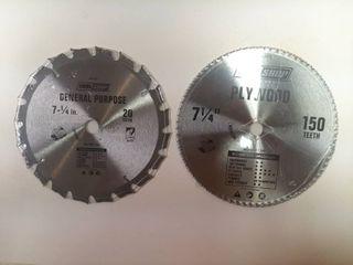 2  Circular Saw Blades   7 1 4