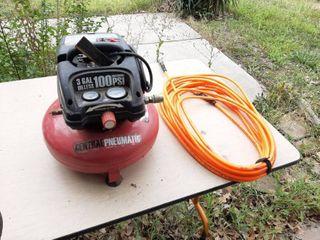Pancake Air Compressor with Orange Air Hose