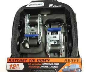2 Pack 12Ft Ratchet Tie Downs