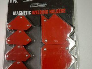 6 Piece Welding Magnet Set
