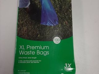 Master Paws Xl Premium Pet Waste Bags  100ct 9 X 13 1 2 1 18 Mil Ultra Thick