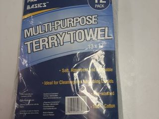 12 Pack Terry Towel
