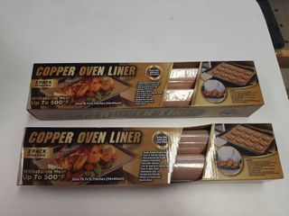 2  Copper Oven liners 19 7 x15 7  Reuse  Withstands Heat To 500