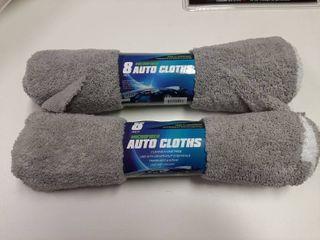 2  8 pack Microfiber Auto cloths