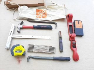 Assorted Tools   Squangle  Nail Puller and Tape Measure
