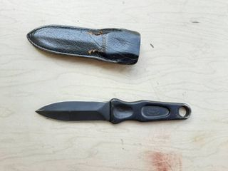 A G  Russell Knife with Sheath  some damage