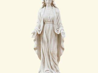 luxen Home Virgin Mary White Garden Statue
