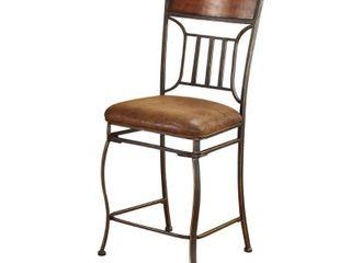 Tavio Saddle Brown Counter Height Chair  Set of 2  Retail 158 49