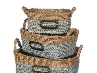 Sullivans Woven Baskets   Set of 3