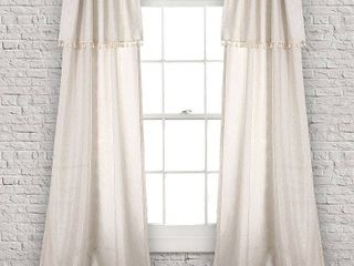 lush Decor Ivy Tassel Window Curtain Panel Pair  MSRP   100 00