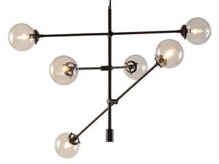 6 light Sputnik Chandelier