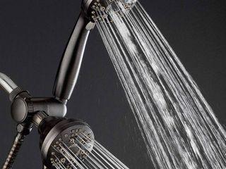 AquaDance oil rubbed bronze high pressure shower head and hose high pressure shower head and hose