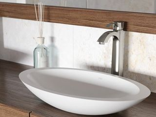 VIGO Wisteria White Matte Stone Vessel Bathroom Sink  Retail 153 99