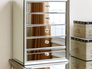 Abbyson Omni Mirrored 5 drawer jewelry box Retail   157 49