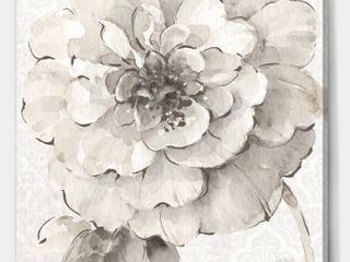 Indigold Grey Peonies  art piece