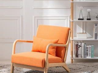 Carson Carrington Kaarnevaara Upholstered Accent Chair living Room Sofa  Retail 156 99