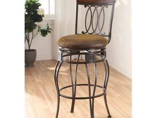 Swivel Espresso Bar Chair  Set of 2  Retail 163 49