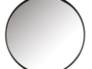 Calgary horizontal metal round mirror