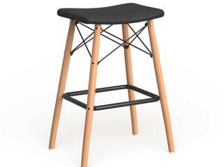 Carson carrington fallenas black faux leather counter stool