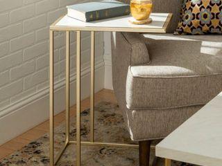 Silver Orchid Parrott Asymmetrical C Side Table  Retail 78 48