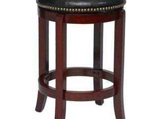Cordova black swivel counter height stool