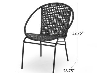 Java Outdoor Modern Wicker Club Chair