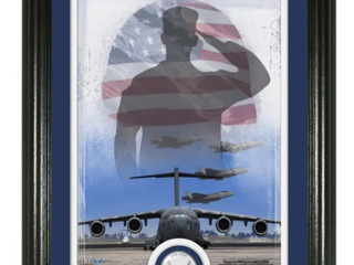 Air Force Patriotic Silver Coin Vertical Photo Mint