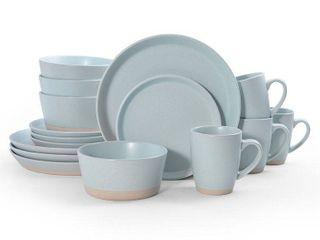 Pfaltzgraff Hudson Blue 16PC Dinnerware Set  Service for 4