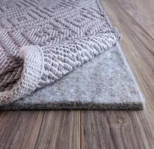 FiberSoft Extra Thick 100 percent Felt Rug Pad for All Floors   Grey