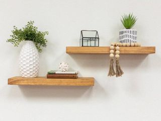 Del Hutson Designs True Floating Shelves  Set of 2  20